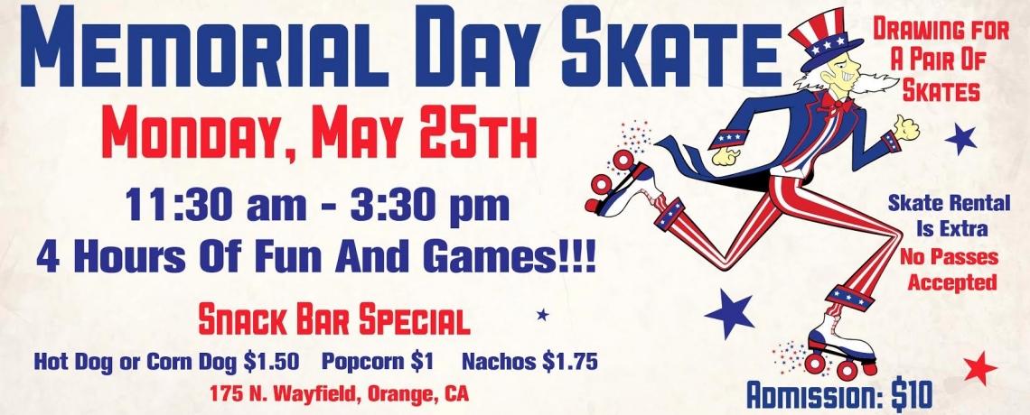 holiday skate memorial day